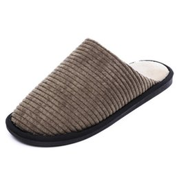 1e84a32e9641 Prowow Striped Bottom Soft Home Slippers Slipper women Warm Cotton Shoes  Women Indoor Slippers Slip-On Shoes for Bedroom House