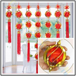 spring handmade decorations NZ - handmade Chinese New Year festive ornaments Lantern hydrangea Spring pendant party hotel Home wedding Decoration party favor