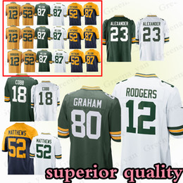 607b1d01094 12 Aaron Rodgers Green Bays Packer jerseys 23 Jaire Alexander 52 Clay  Matthews 17 Davante Adams 80 Graham 4 Favre jersey youth and adult