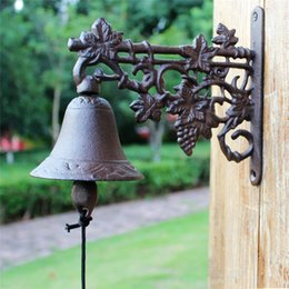 $enCountryForm.capitalKeyWord Canada - Country Rustic Brown Grape Door Bell WELCOME Dinner Bell Cast Iron Wall Decorative Bell for Home Bar Shop Store Office Pub Vintage Antirust