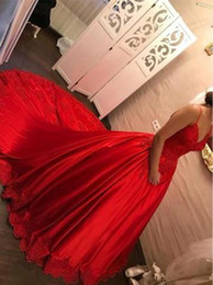 $enCountryForm.capitalKeyWord NZ - Luxurious Spaghetti Straps Red Ball Gown Wedding Dresses 2018 Lace Appliques Bridal Wedding Gowns Lace Up Back Custom Bridal Dress Plus Size