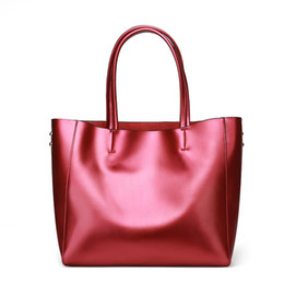 Purple Tote Bags Wholesale Australia - design tote style handbags wholesale fashionable leather bags for women silver golden shopping Bag Large-capacity Female shoulder bags