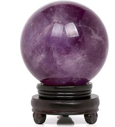 china ball lighting Australia - Authentic Uruguay Natural Amethyst ball ornaments natural crystal ball featured deep purple Natural ball