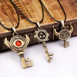 Discount legend zelda accessories The Legend of Zelda Necklace 3 style Evil eye Key Pendant friendship Gift Game Jewelry Accessories