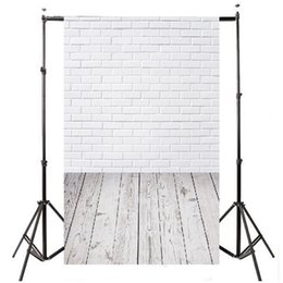 scenic backdrop brick wall 2019 - 3x5ft Vinyl Photography Background For Studio Photo Props Brick Wall Floor Photographic Backdrops 90x150cm discount scen