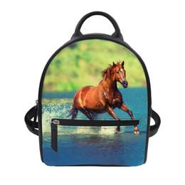 $enCountryForm.capitalKeyWord UK - FORUDESIGNS Crazy Horse 3D Printing Backpacfor Teenagers Cute Design Cartoon Animal Photo Back Pack School Bags for Girls