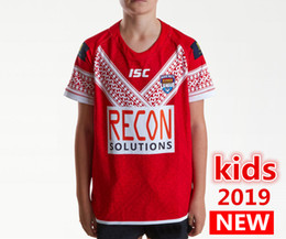 Discount youth jerseys sale - Hot sales Best Quality 2019 Tonga kids Youth Home Rugby League Shirt TONGA NATIONL LEAGUE jersey PACIFIC TEST Rugby jers