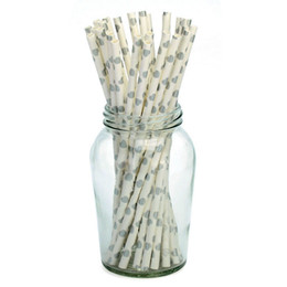 hair papers UK - Environmental Protection Disposable Straw Dessert Table Decoration Props Straw Creative Party Paper Straw Manufacturers Straight Hair