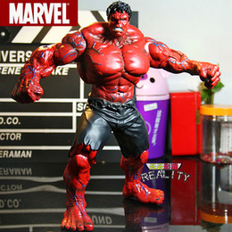 "Red Hulk Figures Australia - Red Hulk Action Figure The Avengers Hulk PVC Figure Collectible Model Toy 10"" 26cm"