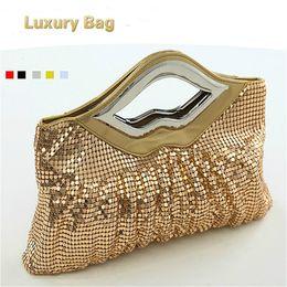 Designer Handbags Crystal NZ - Luxury Crystals 2017 Women Evening Bags  Designer Lips Female Clutch Purses fdcf48bc32b63