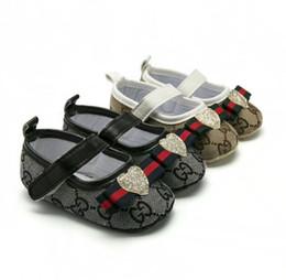 Big Flower Baby Shoes Australia - Newborn Baby Prewalker Soft Bottom Anti-slip Shoes Footwear Classic Princess Girl Crib Mary Jane Big Flower Shoes
