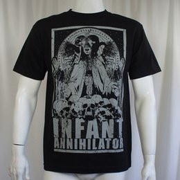 $enCountryForm.capitalKeyWord NZ - Authentic Infant Annihilator Band Goat Lord Skulls Logo T-Shirt S-2Xl New T-Shirt Men's Casual Custom Short Sleeve Valentine's Plus Size Cou