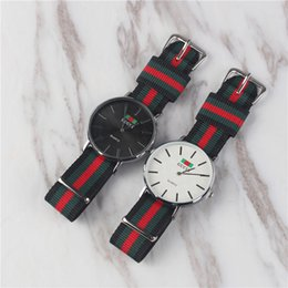 Wholesale Silver Lady Quartz Wristwatches New Hot Dress Luxury Fashion Women s Watches Nylon Strap Sport Casual Clock Relógio Orologio femminile