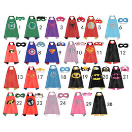 Kids Cape Masks NZ - 50 Kids capes - Double sides Satin Fabric cape + mask party supplies for Children's birthday party cosplay