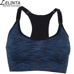 d8d8073f44b LELINTA Hot Sale Professional Sports Bra Top Yoga Fitness Gym Vest Wireless  Running Underwear for Women no rims Push Up Top Bras