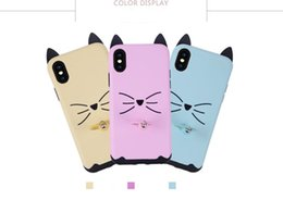 $enCountryForm.capitalKeyWord UK - Wholesale Kickstand case Cat ears bell Boutique Mobile phone shell case creative pattern for phone X 8 7plus TPU PC 192