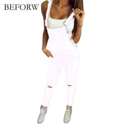 China BEFORW Brand Jeans Women Jumpsuit Denim Romper Overalls Casual Long Trousers Black White Denim Pants Wide Leg Rompers Female suppliers