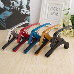 Discount acoustic guitar tuner keys - Accessories Aluminum Alloy Guitar Tuner Clamp Professional Key Trigger Capo for Acoustic Electric Musical Instruments