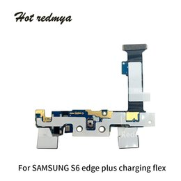 Connector Plus Australia - 50Pcs For Samsung Galaxy S6 G920 S6 Edge S6 Edge Plus Charging Charger Dock Port USB Flex Cable Connector Replacement Parts Free DHL