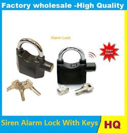 Security Alarm For Doors NZ - Hot Siren Alarm Lock With Keys Anti-Theft Security System for Door Bike Motorcycle Bicycle Electronic Padlock Alarm Lock