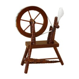 Chinese  1:12 scale doll house miniature hand reeling machine wooden spinning wheel manufacturers