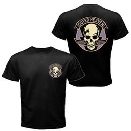 Neck Gear Australia - Plain T Shirts Men Outer Heaven The Metal Gear Solid Mgs T-Shirt Streetwear Crew Neck Regular Short Tee Shirt For Men