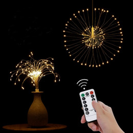 $enCountryForm.capitalKeyWord Australia - Firework String Light DIY Copper Fairy String Garland 8 Modes 120Led Fireworks Christmas Explosion Wedding Light for Kitchen Bedroom Decor