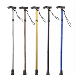 Discount adjustable walking poles - Outdoor 4-section Aluminum Alloy Adjustable Canes Camping Hiking Mountaineer Walking Sticks Trekking Pole 6 Colors aa368