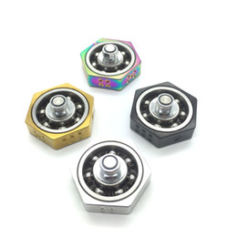 Toys for geeks online shopping - VAPE SPINNER Geek Spinners Fidget Toy Metal Fingertips Gyro For Thread RDA RTA RDTA Tank DHL free