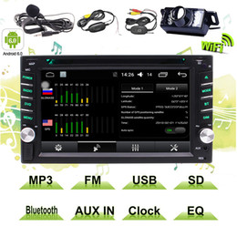 "Touch Screen 2din Car Dvd Australia - 6.2""Double DIN In-Dash Headunit 2Din Car Autoradio Android Stereo Touchscreen TFT LCD Monitor car DVD CD MP3 MP4 USB SD AM"