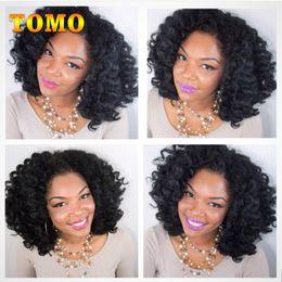"Discount short ombre hair extensions - TOMO Wand Curl Crochet Hair 8"" Short Jamaica Bounce Curl Braids Synthetic Low Temperature Fiber ombre Braiding Hair"