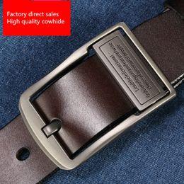 Men Belt Leather 36 NZ - Factory direct sales Men Real leather belt Leisure Leather cow belt fashion Pants belt fashion new style wholesale