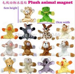 cute animal magnets 2019 - Free Shipping 6Pcs Cute Animal Refrigerator Magnet Stickers Plush Fridge Magnet Sticker Children Birthday Gift Christmas