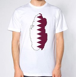 Funny Holiday Gifts NZ - Qatar New T-Shirt Map Flag Top Country Gift Present City Holiday Tee Asia Funny free shipping Unisex Casual tshirt gift
