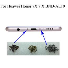 Discount housing huawei - 2PCS silver Honor7 Buttom Dock Screws Housing Screw nail tack For Huawei Honor 7X 7 X BND-AL10 Mobile Phones