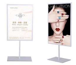 Wholesale Hot promotion high quality Double sided poster stand A3 A4 metal cafe table sign advertising promotion desk display stand rack