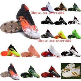 Cheap messi boots online shopping - 2018 new arrival mens soccer cleats Predator accelerator soccer shoes Predator FG football boots chuteiras de futebol messi cheap