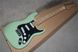 $enCountryForm.capitalKeyWord Australia - Electric Guitar with Green Body and Black Pickguard and Maple Neck,Can be Customized as Request