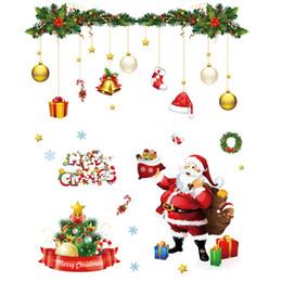 $enCountryForm.capitalKeyWord NZ - Christmas Wall Sticker Decoration Artistic conception cartoon Window Static Sticker Cellophan Snowflake Paper Drawing Santa Snowman