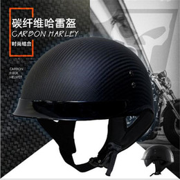 $enCountryForm.capitalKeyWord NZ - HOT SELL German Pure Carbon Fiber half face motorcycle helmet DOT approved light weight open face helmet with inner sungalsses