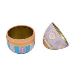 $enCountryForm.capitalKeyWord UK - Hot sell 200pcs lot Zakka Mini Tin box Easter Egg shaped mixed pattern wedding candy box