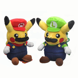 Cosplay Mario Red Australia - EMS PKC Cosplay Mario Luigi Red Green 20CM Plush Doll Stuffed Best Gift Soft Toy