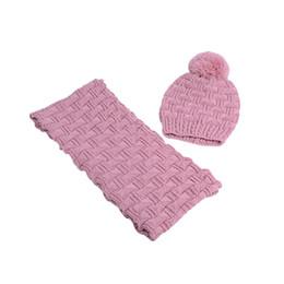 $enCountryForm.capitalKeyWord NZ - Hot Sale Ladies Scarf And Hat Simple Casual Scarves For Women Set Winter Warm Cap Shawl Gray-Black Knitting Scarf Cap Of Woman