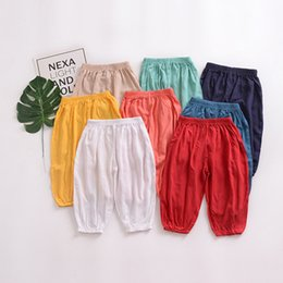 $enCountryForm.capitalKeyWord NZ - 2018 Children's Mosquito Pants Thin Summer Infant Baby Air Conditioning Pants Kids Boys and Girls Lantern Pants Baby Casual Trousers 6M-6T