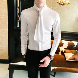 3e754978f Mens dress shirts ties online shopping - Britsh Autumn Mens Shirt New  Arrival Solid Color Casual