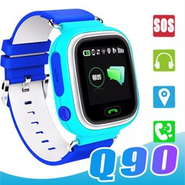 $enCountryForm.capitalKeyWord NZ - Q90 Kids Bluetooth Smartwatch Smart Watch for Child apple iPhone Android Smart Phone with GPS Tracker WiFi LBS Wearable Device PK Q50 Q60