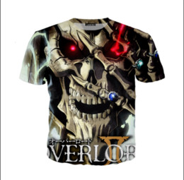 summer painting t shirts UK - Funny Anime Mens Womens Summer Print Overlord Fashion Wholesale-Newest Skull Game 3D Style Casual T-Shirt D0X0061 Cmixj
