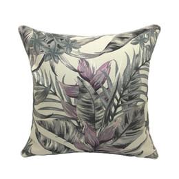 $enCountryForm.capitalKeyWord UK - Free Shipping Tropical Leaf Plant Decorative Jacquard Throw Cushion Cover Interior Sofa Chair Pillow Case 45x 45cm Sell by piece