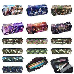 $enCountryForm.capitalKeyWord NZ - Pencil Bag Multifunctional Pencil Box Wallet Purse Large Capacity Stationery Storage Bag Kids Students Canvas Zipper Pencil Cases