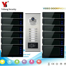 Camera Lcd Display Security NZ - Yobang Security Video Door Phone intercom Wired 7''Inch LCD Monitor Display Screen Waterproof RFID Camera For Apartment Home